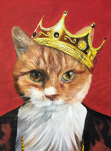 Custom Pet Portraits From Photos Dog Paintings Cat Portraits - Game of thrones pet paintings